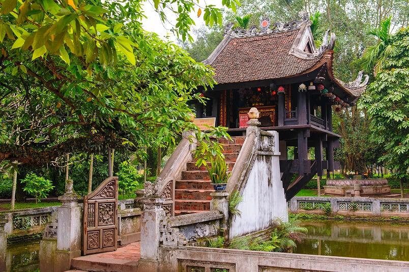 Pagoda de un solo pilar - Viajar a Hanoi, Vietnam