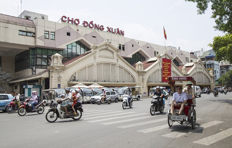 Mercado Dong Xuan - Viajar a Hanoi, Vietnam
