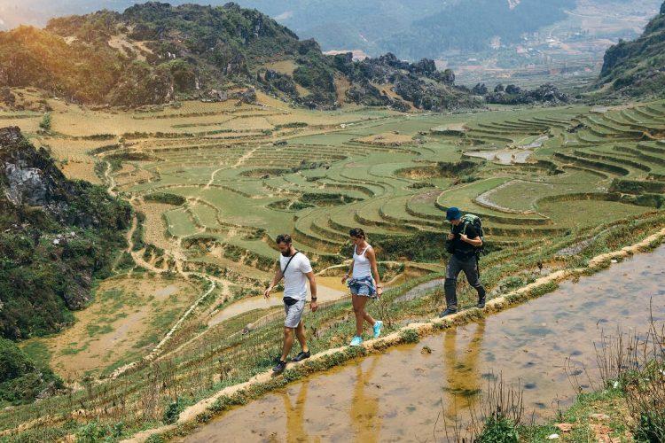 senderismo en Vietnam y Camboya